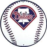 Philadelphia Phillies 12 inch Baseball Style Metal Circle Sign