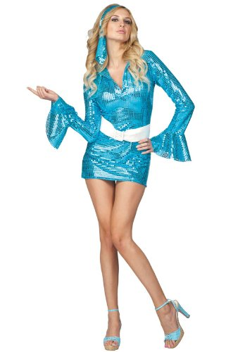 Swinging Sapphire Disco Adult Costume Size (Sapphire Adult Costumes)