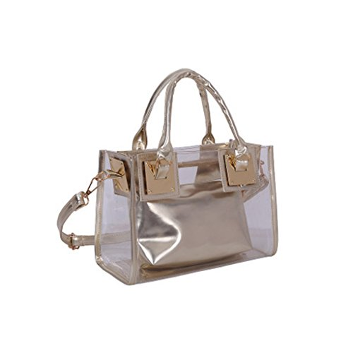 Kofun Ladies Bag Candy 2x Crossbody Gold Handbag Transparent Messenger Shoulder Gold Tote rx1rq4Y