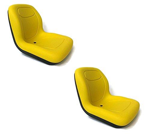 TWO NEW YELLOW HIGH BACK SEATS JOHN DEERE GATORS. by Milsco