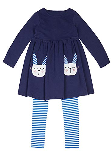 Fiream Longsleeve Casual clothing Sets Cotton Dress Sets 2 Piece For Girls(Z0007,4T/4-5YRS) -