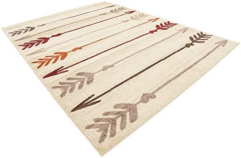 Unique Loom Autumn Collection Modern Arrows Warm Toned Beige Area Rug 9 0 x 12 0