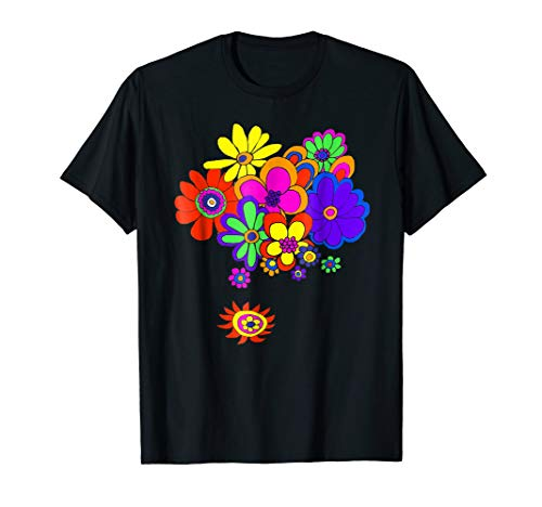 60s & 70s Retro Flower Power T Shirt