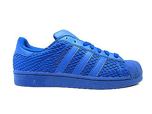 adidas originals superstar mens trainers sneakers shoes (US 9.5, Blue Blue AQ3050)