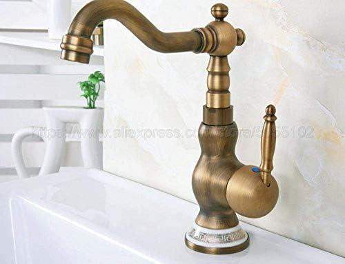 YYG-YYG 蛇口バスルームシンクの蛇口コールドとホット浴室の蛇口アンティーク水ミキサータップの真鍮流域の蛇口 蛇口