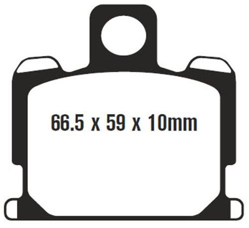 EBC Brakes FA70V Semi Sintered Disc Brake Pad