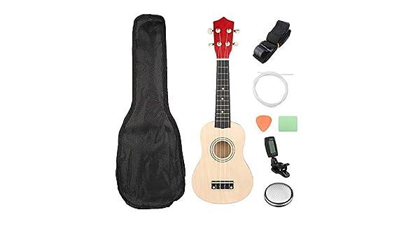Guitarra eléctrica 21 pulgadas Burlywood Soprano Ukulele Uke ...