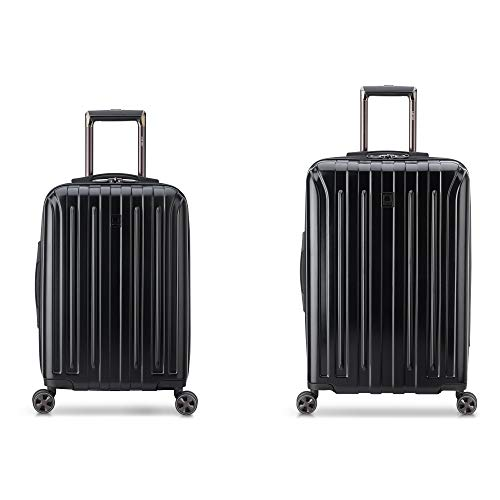 DELSEY Paris Titanium DLX 2-Piece Spinner Luggage Set (Carry-on & 25'), Black