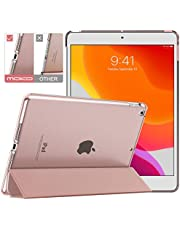"""MoKo Case Fit New iPad 7th Generation 10.2"""" 2019 / iPad 10.2 Case - Slim Lightweight Smart Shell Stand Cover with Translucent Frosted Back Protector for iPad 10.2 2019, Rose Gold(Auto Wake/Sleep)"""