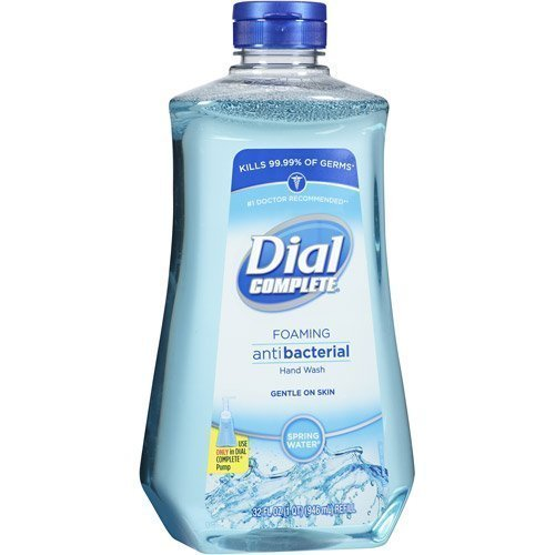 Dial Complete Spring Water Foaming Antibacterial Hand Wash Refill, 32 Oz (Pack of 2)