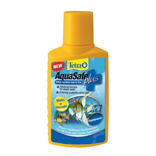 Tetra AquaSafe Plus Water Conditioner/Dechlorinator, -