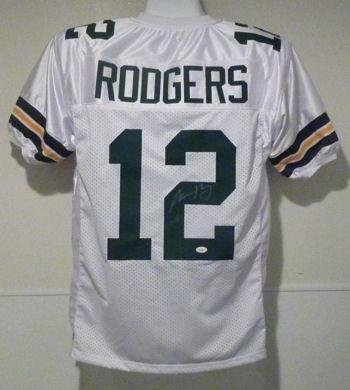 978f0c7b35c Autographed Aaron Rodgers Jersey - White - Autographed NFL Jerseys ...