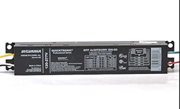Sylvania 49908 S5210 UL Listed Quicktronic Professional 4 Lamp Ballast for 32W T8 Fluorescent Light Bulb 6-Pack QTP4X32T8//UNV-ISN-SC-B
