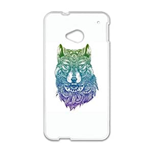 HTC One M7 Cell Phone Case White Abstract Wolf KYS1114673KSL