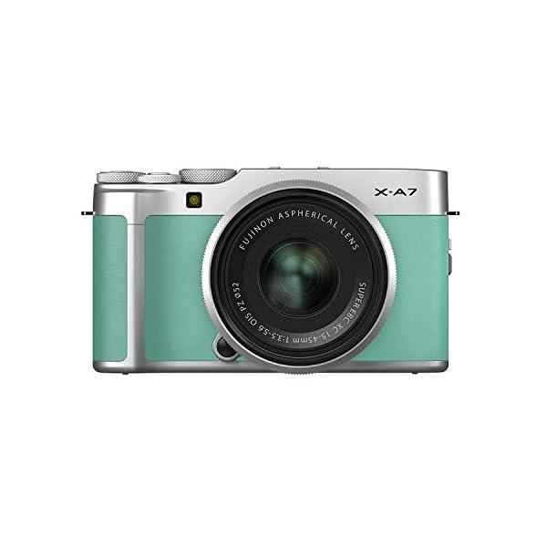 RetinaPix Fujifilm X-A7 24.2 MP Mirrorless Camera with XC 15-45 mm Lens - Mint Green
