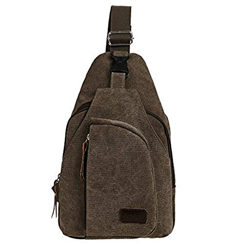 Satchel Size Retro Bag Cycling Cross color Hiking Chest Shoulder Canvas Men Moontang Body Small qE5xw7ZU