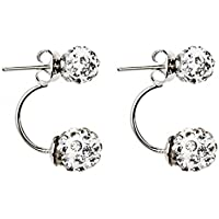 Waymine Hollow Out Silver-plated pizza ball Earrings Ear Studs Gifts