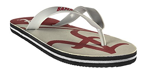 Ncaa Flip Flops (Forever Collectibles NCAA Team Logo Flip Flop University of Alabama Medium)