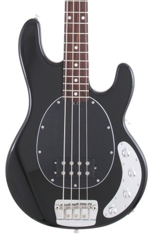 Ernie Ball Music Man Stingray 4 Bass, Black, Single Humbucker, Rosewood Board by Music Man (Image #1)
