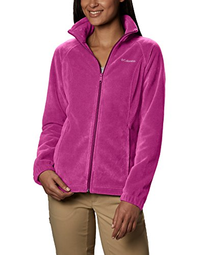 Columbia Women's Benton Springs Classic Fit Full Zip Soft Fleece Jacket, Fuchsia, X-Small