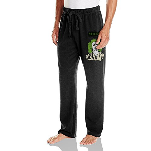 Caryonom Men's Beetlejuice Jogger Sweatpant Black XXL -