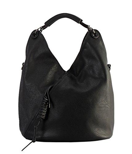 Diophy PU Leather V Shape Front Pocket with Animal Print Pattern Hobo Handbag - Hobo Print Animal