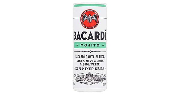 Bacardi Bebida y Cócteles Premezclados Mojito Lata 5º, 250ml ...