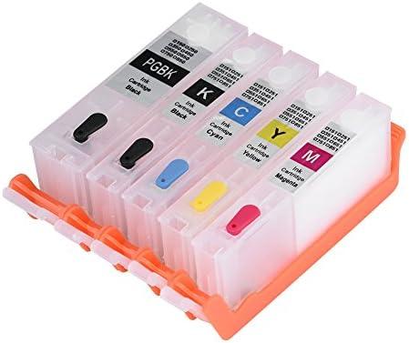 Vbestlife Cartucho de Tinta Rellenable para Impresora con 5 Colors ...