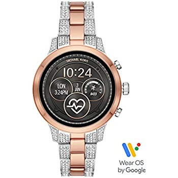 844d25944 Michael Kors Access Womens Runway Touchscreen Smartwatch Stainless Steel  Bracelet watch, Two tone Rose gold tone and silver, MKT5056