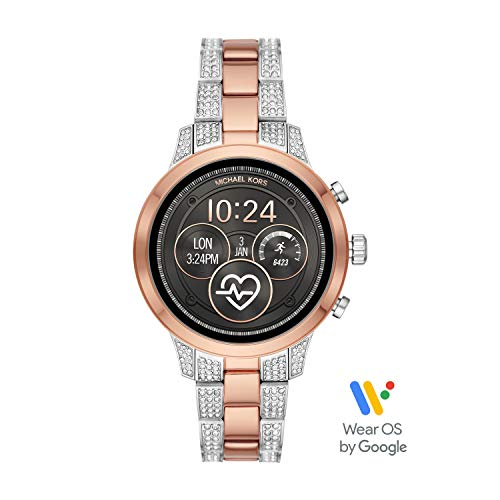 (Michael Kors Access Womens Runway Touchscreen Smartwatch Stainless Steel Bracelet watch, Two tone Rose gold tone and silver, MKT5056)