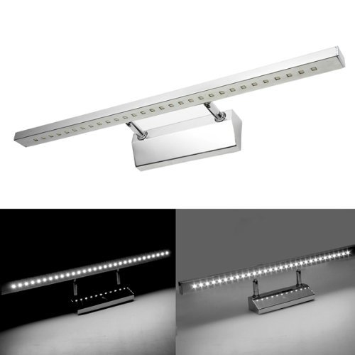 50%OFF LED Lamp - TOOGOO(R) 7W 5050 SMD 30 LED Wall Lamp Light 6500K for Bath Mirror White