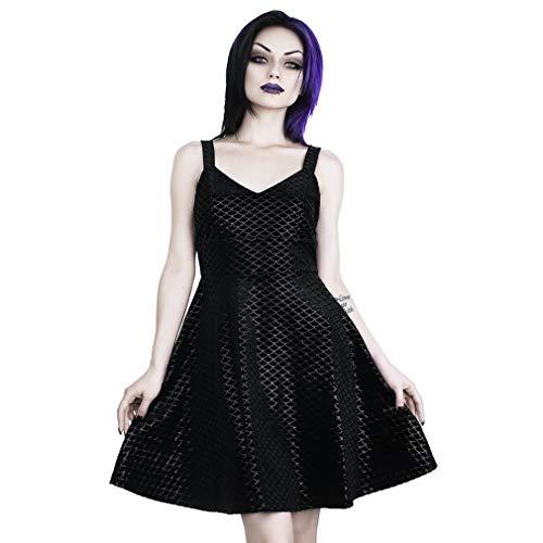 Black Killstar Schwarz Samt Sea Skater Kleid wvrqOtvxY