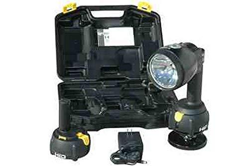 Rechargeable HID Spotlight - 200lb. Grip Magnetic Base - 4000' Beam - Flood/Spot Combo - 35 Watts