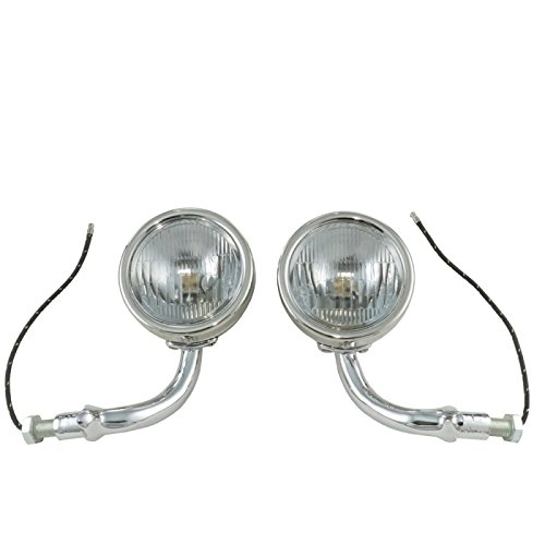 MACs Auto Parts 28-21074 Model A Cowl Lamps Stainless Steel
