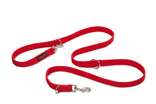 Halti Training Lead For Dogs, Double Ended Dog Training Leash for Halti Head Collar and No Pull Harness, Red Training Leash for Medium Dogs and Large Dogs from The Company of Animals