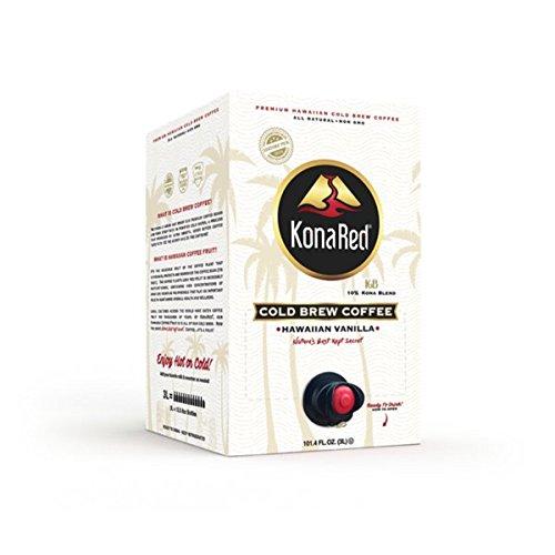 Konared Premium Cold Brew Coffee   Hawaiian Vanilla 3 Liter Multi Serve  Bag In Box