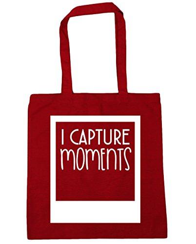 HippoWarehouse I captura momentos Tote Compras Bolsa de playa 42cm x38cm, 10litros Classic Red