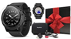 Garmin tactix Charlie (Black/Titanium) Gift Box Bundle | Tactical GPS Smartwatch | Includes Screen Protectors, PlayBetter USB Car/Wall Charging Adapters, Case | Rugged, Multisport, Outdoor Navigation