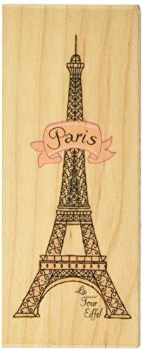 Inkadinkado Eiffel Tower Paris Wood Stamp for Arts and Crafts, 4.75'' W x 2'' L -