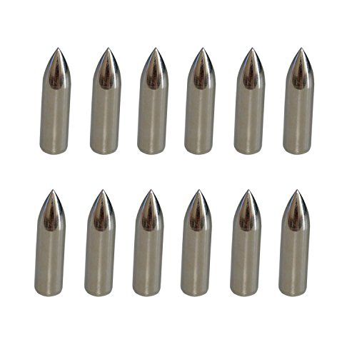 5/16 100gr Glue on Field Points Archery Arrow Replacement Practice Tips - 100gr Point