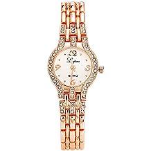 Lvpai Diamond Bracelet Watches for Women Analog Quartz Rose Gold P033