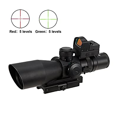 Pinty Premium 2-in-1 combo 3-9x42EG Rangefinder Mil Dot Tactical Quick Release Reticle Riflescope by Pinty
