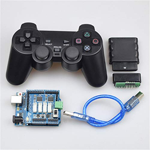 Moebius Wireless RC Controller Kit for Arduino Mecanum Wheel Robot Car Platform 2/4WD Tank Car Chassis with Gamepad+ UNO R3 Board+ 2/4 Channels Motor Driver Board