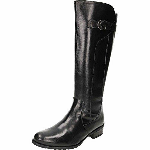 Comfort Plus Wide Fit Leather Flat Black Boots Black u1yCZ
