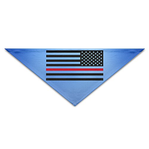 Captain America Cat Costume (Pet Bandanas - Personalized Thin Red Line Flag Firefighter Pet Bandana Scarf - Triangle Scarf Collar Neckerchief For Dog Cat)