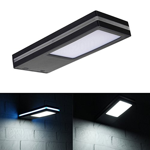 Super Bright Solar Deck Lights Outdoor, iMeshbean 144 LED IP65 Waterproof Motion Sensor Solar Wall Light, Outdoor Security Night Flood Lamp for Patio,Deck,Garden,Garage