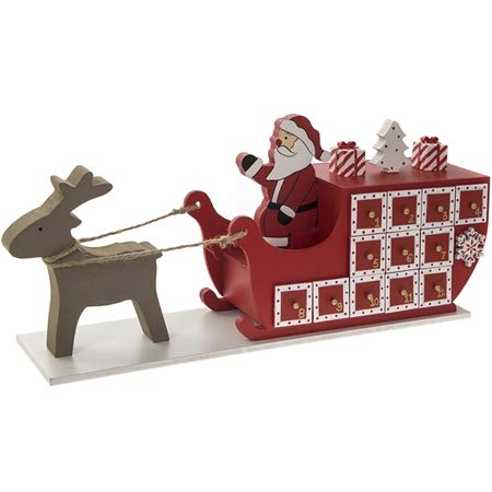 Novelty Christmas Advent Calendart Wooden Xmas Door Count Down