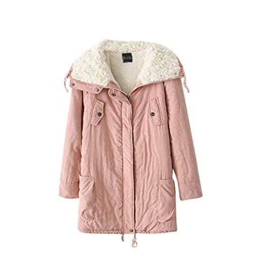 Outdoor Baggy Rosa Eleganti Giaccone Trapuntata Outerwear Invernali Giacche Cappotti Giacca Inverno Manica Vita Caldo Betrothales Donna Alta Lunga Addensare Giubotto SUpqzMV