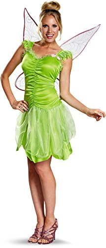 [Disney Fairies Tinker Bell Young Adult Costume size 12-14] (Adult Tinkerbell Fairy Costumes)