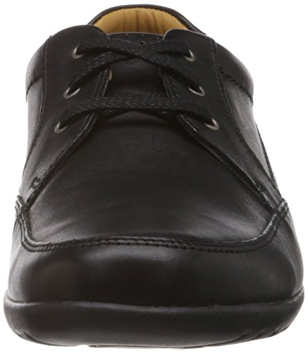 Clarks Recline Out 20353142 - Zapatos de cordones para hombre Negro (Black Leather)
